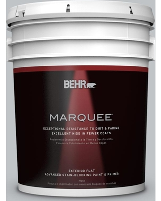 BEHR MARQUEE 5 gal. #N510-2 Galactic Tint Flat Exterior Paint and Primer in One