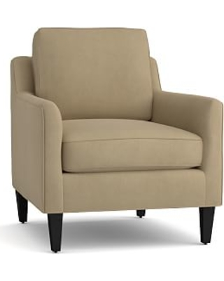 Beverly Upholstered Armchair, Polyester Wrapped Cushions, Performance everydaysuede(TM) Light Wheat