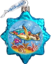 The Holiday Aisle Starfish Coastal Glass Ornament THLY6678
