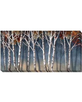 Artistic Home Gallery 'Birch Shadows' by Conrad Knutsen Painting Print on Wrapped Canvas 1836204LG