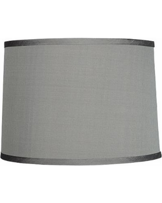 Platinum Gray Dupioni Silk Lamp Shade 13x14x10 Spider