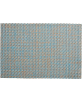 Basketweave Reversible Vinyl Placemats Set of 4: Blue - Polyester - Small by World Market