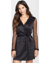 Women's Flora Nikrooz Showstopper Robe, Size Large - Black