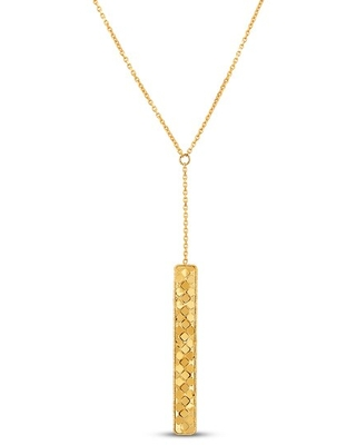 Jared The Galleria Of Jewelry Italia D'Oro Rectangle Bar Necklace 14K Yellow Gold