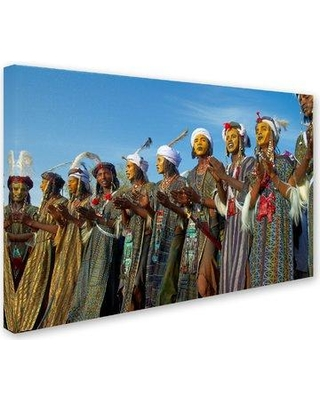 """Trademark Art 'Character Scene 9' Photographic Print on Wrapped Canvas ALI19295-C Size: 16"""" H x 24"""" W"""