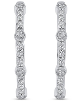 10K White Gold 1/4ct TDW Diamond Hoop Earrings (G-H, I2-I3)