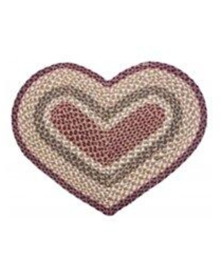 Mr.MJs Braided Heart Kitchen Mat AG-6410 Color: Brown