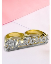 Double Finger Name Ring