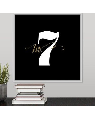 "Ebern Designs 'No.7' Textual Art Print on Canvas W000657780 Size: 17.7"" H x 17.7"" W x 1.75"" D Format: White Framed"