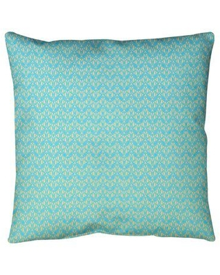 """Ebern Designs Leffel Art Deco Floor Pillow, Polyester/Polyfill/Synthetic in Blue/Yellow Ombre, Size 36"""" x 36""""   Wayfair"""