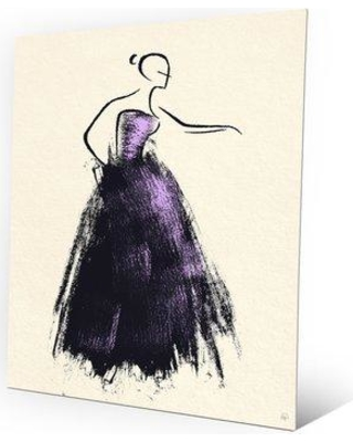 "Click Wall Art 'Formal Dress Violet' Painting Print on Metal PEO0000163MTL Size: 20"" H x 16"" W x 1"" D"