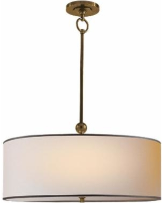 Visual Comfort and Co. Thomas O'Brien Reed 22 Inch Large Pendant - TOB 5011HAB-NP/BT