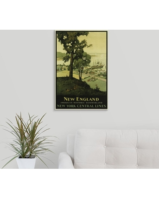 """GreatBigCanvas """"New England via New York Central Lines - Vintage Travel Advertisement"""" by Vintage Apple Collection Canvas Wall Art, Multi-Color"""
