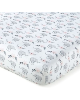 Levtex Baby® Heritage Elephants Fitted Crib Sheet in Pink/Grey