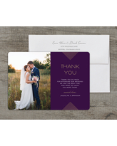 Personalized Wedding Thank You Card - Modern Geo - 5 x 7 Flat Deluxe