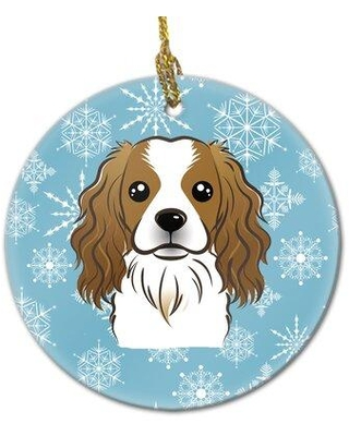 The Holiday Aisle Snowflake Cavalier Spaniel Ceramic Hanging Figurine Ornament X113555490
