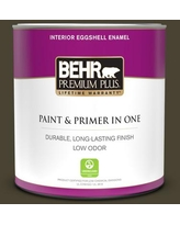 Amazing Deals On Behr Premium Plus 1 Qt Ppu5 10 Heavy Cream Eggshell Enamel Low Odor Interior Paint And Primer In One