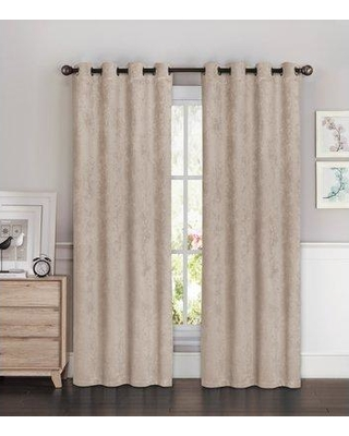 """Bella Luna Solid Room Darkening Thermal Grommet Curtain Panels YMC0057 Color: Taupe Size per Panel: 54"""" W x 96"""" L"""