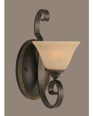 Can T Miss Bargains On Astoria Grand Pierro 1 Light Dimmable Dark Granite Armed Sconce Shade Glass Metal In Italian Marble Size 7 Wayfair