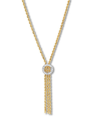 02110c63bae6e Get the Deal: Rope Chain Lariat Necklace 10K Two-Tone Gold