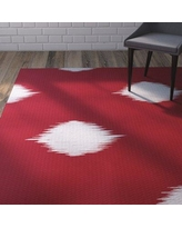 Wrought Studio Urbina Decorative Holiday Ikat Print Red Indoor/Outdoor Area Rug VRKG4531 Rug Size: Rectangle 3' x 5'