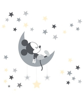 Disney Baby Mickey Mouse Gray/Yellow Celestial Wall Decals by Lambs & Ivy