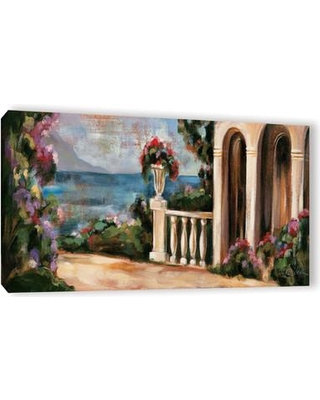 Huge Deal On Alcott Hill Garden By The Lake Ii Framed Painting Print On Wrapped Canvas Canvas Fabric In Brown Gray Size 18 H X 36 W X 2 D Wayfair