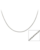 Mondevio Sterling Silver 18-inchTwisted Rope Chain Necklace
