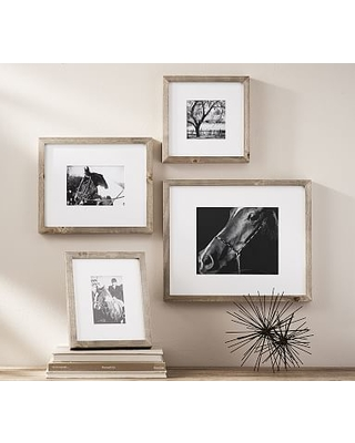 Wood Gallery Single Opening Frame, Set of 3 (includes 4x6, 5x7, 8x10) - Gray