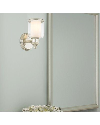 Andover Mills Morristown 1-Light Armed Sconce ANDV3667 Shade Color: Polished Nickel