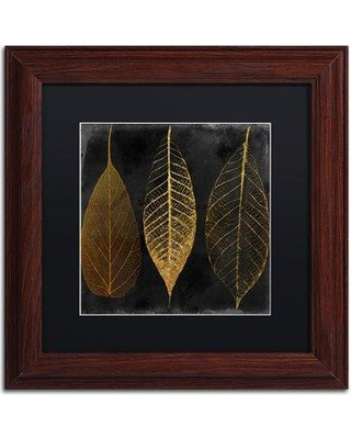 "Trademark Art 'Fallen Gold I' by Color Bakery Framed Graphic Art ALI4931-W1 Matte Color: Black Size: 16"" H x 16"" W x 0.5"" D"