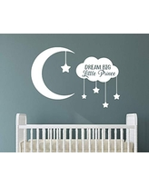 Dream Big Little Prince with Moon and Stars Removable Vinyl Wall Art Quotes Decal Sticker