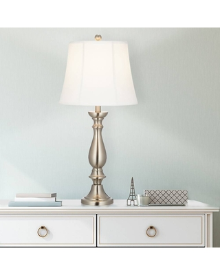 """28.75"""" Table Lamp Silver - Cresswell Lighting"""
