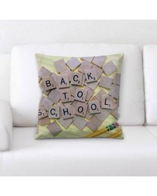 Latitude Run Dowling Back to School Throw Pillow BF137154