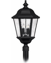 "Edgewater Collection Black 27"" High Outdoor Post Light"