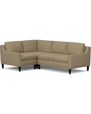 Beverly Upholstered Right Arm 3 Piece Corner Sectional, Polyester Wrapped Cushions, everydaysuede(TM) Light Wheat