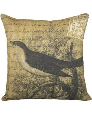 Shopping Special For Thewatsonshop Bird On Branch Cotton Throw Pillow Polyester Polyfill Cotton Blend In Brown Size 16x16 Wayfair Lbrownbird16
