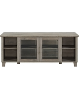 Columbus TV Stand with Middle Doors Gray Wash - Saracina Home
