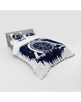 Blue And White Duvet Cover Set East Urban Home Size: Queen Duvet Cover + 3 Additional Pieces