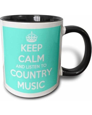 Symple Stuff Canvey Keep Calm and Listen to Country Music and Horse Coffee Mug W000876273 Color: Blue