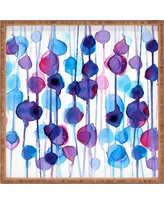 CMYKaren Abstract Watercolor Square Tray - Purple - Deny Designs, Multi-Colored