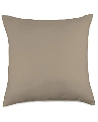 Swesly Totes & Pillows Pastel Grey Brown AEJT087 Throw Pillow, 18x18, Multicolor