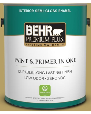BEHR Premium Plus 1 gal. #PPU6-19 Chameleon Semi-Gloss Enamel Low Odor Interior Paint and Primer in One