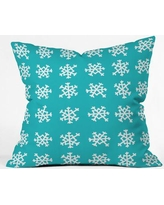 East Urban Home Snowflake Party Indoor/Outdoor Throw Pillow UNFP6928