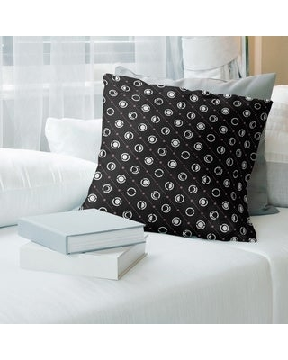 Porch & Den Imbrie Moon Phases Throw Pillow (14 x 14 - Pink Accent - Polyester)