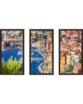 """PicturePerfectInternational """"French Riviera"""" 3 Piece Framed Photographic Print Set 704-2165-1224 / 704-2165-1632 Size: 33.5"""" H x 52.5"""" W x 1"""" D"""