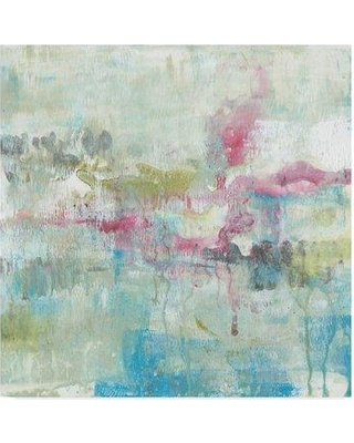 """East Urban Home 'Fresh Abstract I' Acrylic Painting Print on Wrapped Canvas W000836403 Size: 24"""" H x 24"""" W x 2"""" D"""