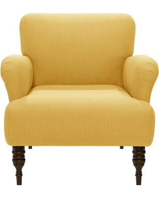 Laurel Foundry Modern Farmhouse Trina Armchair MGNG4714 Fabric: Linen French Yellow