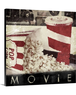 """GreatBigCanvas 16 in. x 16 in. """"Movie"""" by Jace Grey Canvas Wall Art, Multi-Color"""
