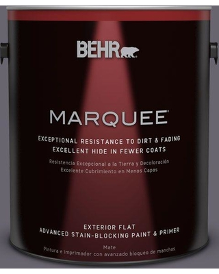 BEHR MARQUEE 1 gal. #N550-6 Alter Ego Flat Exterior Paint and Primer in One